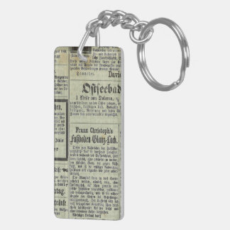 Llavero alemán del periódico del vintage