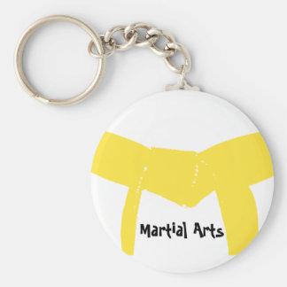 Llavero amarillo de la correa de los artes marcial