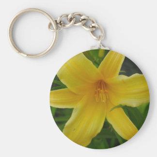 llavero amarillo de la flor