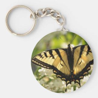Llavero amarillo de la mariposa