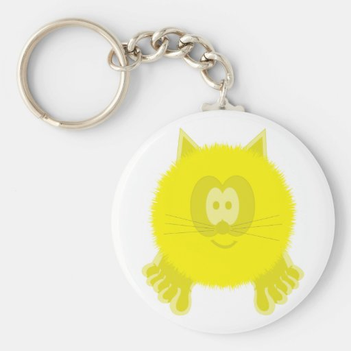 Llavero amarillo de Pom Pom PAL del gato