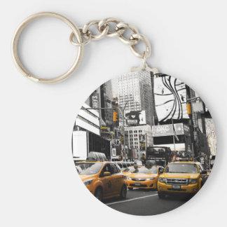 Llavero amarillo del taxi de NYC