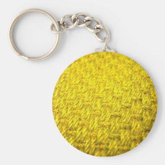 Llavero amarillo macro de la armadura