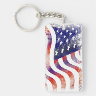Llavero americana de la bandera 2-Sided