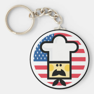 Llavero americano del estilo del cocinero