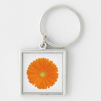 llavero anaranjado de la flor del gerbera