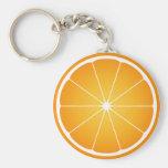 Llavero anaranjado de la fruta