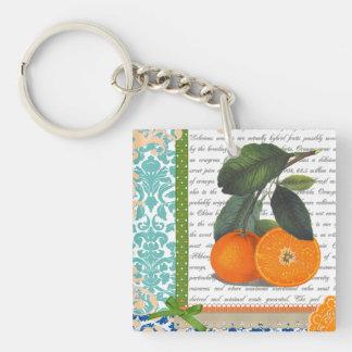 Llavero anaranjado de la fruta de la Florida del v