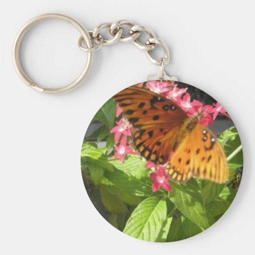 Llavero anaranjado de la mariposa