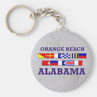 Llavero anaranjado de las banderas de playa