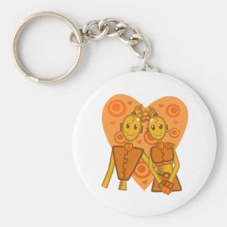 Llavero anaranjado de los pares del robot