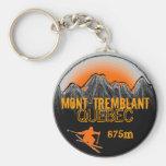 Llavero anaranjado del esquí de Mont Tremblant Que