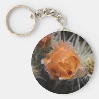 Llavero anaranjado del flor del cactus