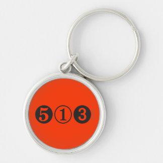Llavero anaranjado superior del código de área 513