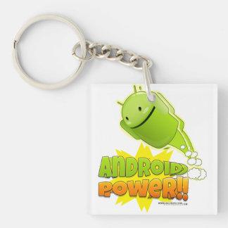 Llavero Android Power cuadrado