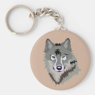 Llavero animado realista del lobo