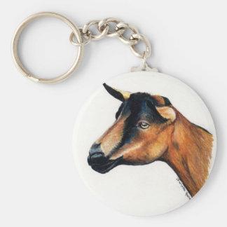 Llavero animal del arte de la cabra de Oberhasli