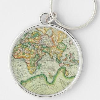 Llavero antiguo del mapa del mundo