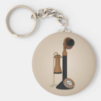 Llavero antiguo del teléfono del vintage