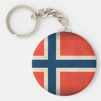 Llavero apenado bandera de Noruega