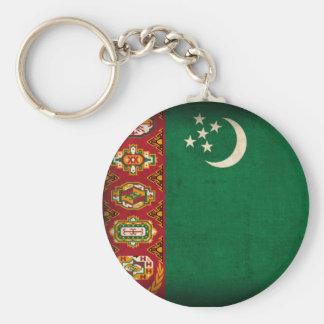 Llavero apenado bandera de Turkmenistán