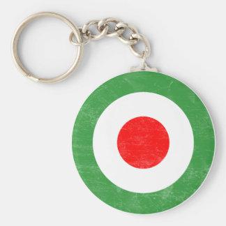 Llavero apenado blanco italiana de la MOD