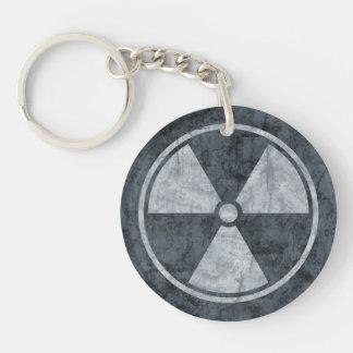 Llavero apenado del símbolo de la radiación