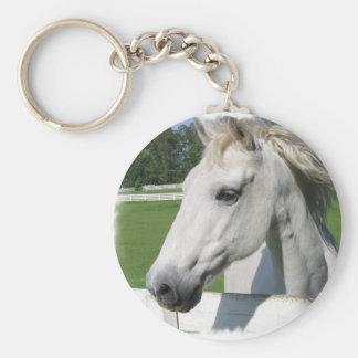 Llavero árabe blanco del caballo