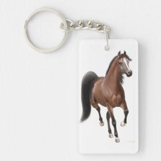 Llavero árabe del caballo de la bahía el trotar