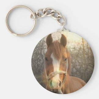 Llavero árabe del caballo de la castaña