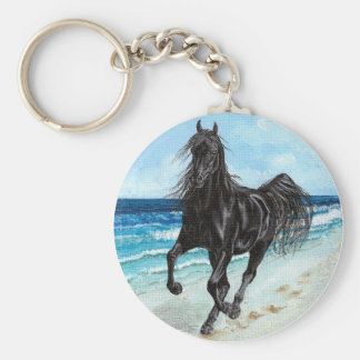 Llavero árabe del caballo del semental negro