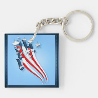 Llavero arrebatador de la bandera americana