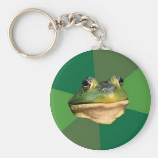 Llavero asqueroso de encargo de la rana del solter