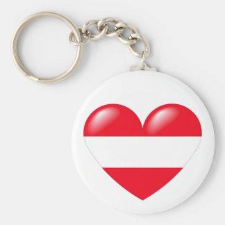 Llavero austríaco del corazón - Österreichisch Her