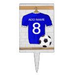 Llavero (azul) adaptable del jersey de fútbol palillos de tarta