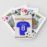 Llavero (azul) adaptable del jersey de fútbol baraja de cartas