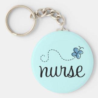 Llavero azul bonito de la enfermera