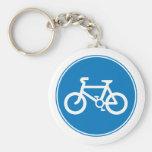 Llavero azul de la bicicleta