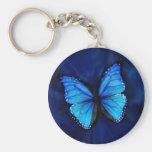 Llavero azul de la mariposa
