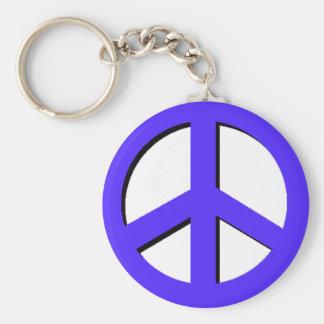 Llavero azul de la paz