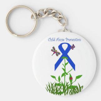 Llavero azul de la prevención de la pederastia de