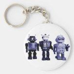 llavero azul de los robots