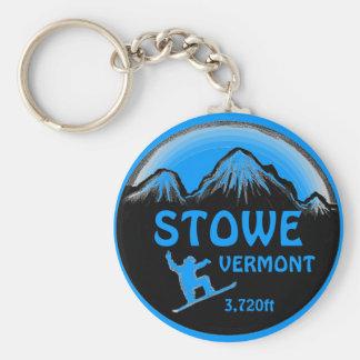 Llavero azul del arte de la snowboard de Stowe Ver