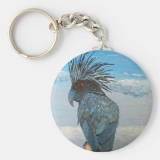 Llavero azul del Cockatoo