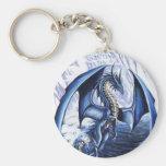 Llavero azul del dragón