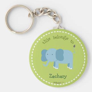 Llavero azul del elefante