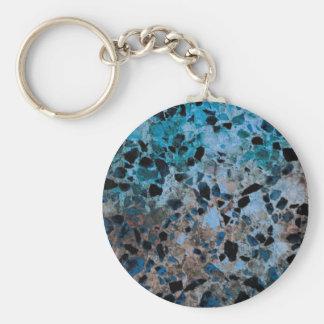 Llavero azul del granito