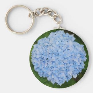 Llavero azul del Hydrangea