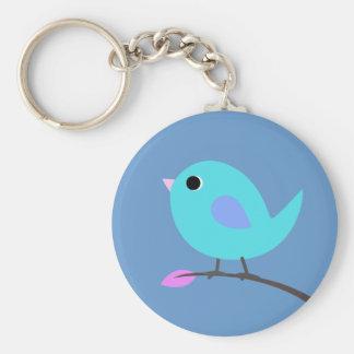 Llavero azul del pájaro