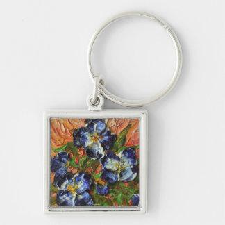 Llavero azul del racimo de flor